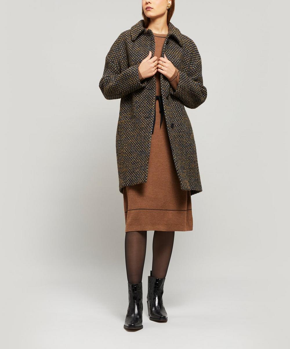 Lise Wool-Blend Cocoon Coat