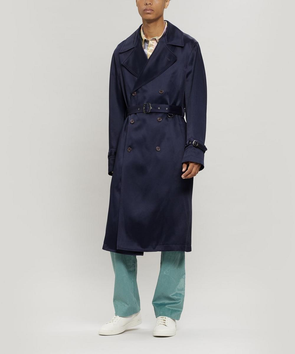 Sies Marjan Coats EMERSON TWILL SATIN DOUBLE BREASTED COAT