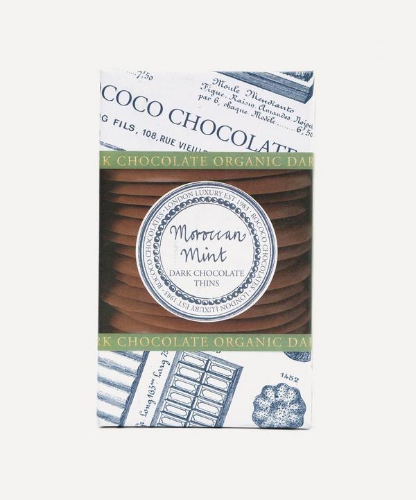 Rococo - Organic Dark Chocolate Moroccan Mint Thins 150g