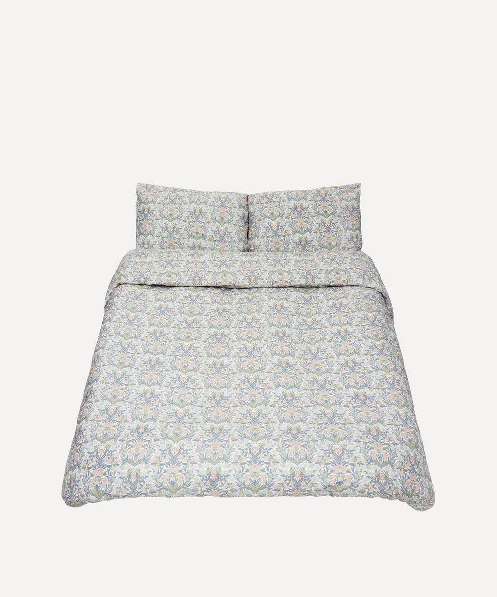 Liberty Sea Grass Cotton Sateen King Duvet Cover Set In White