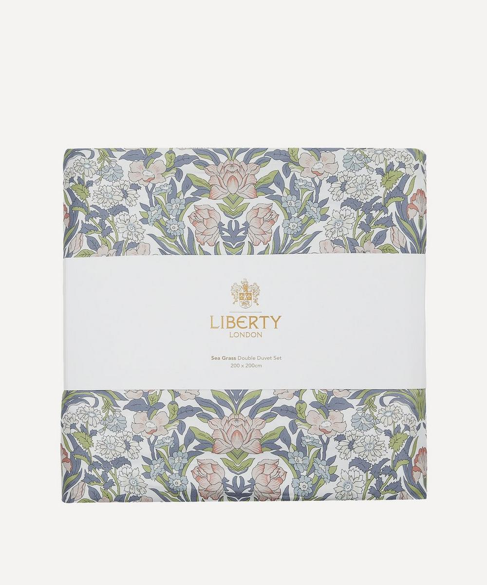 Sea Grass Cotton Sateen Super-King Duvet Cover Set