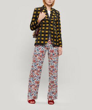 Vina Checked Woven Tailored Blazer