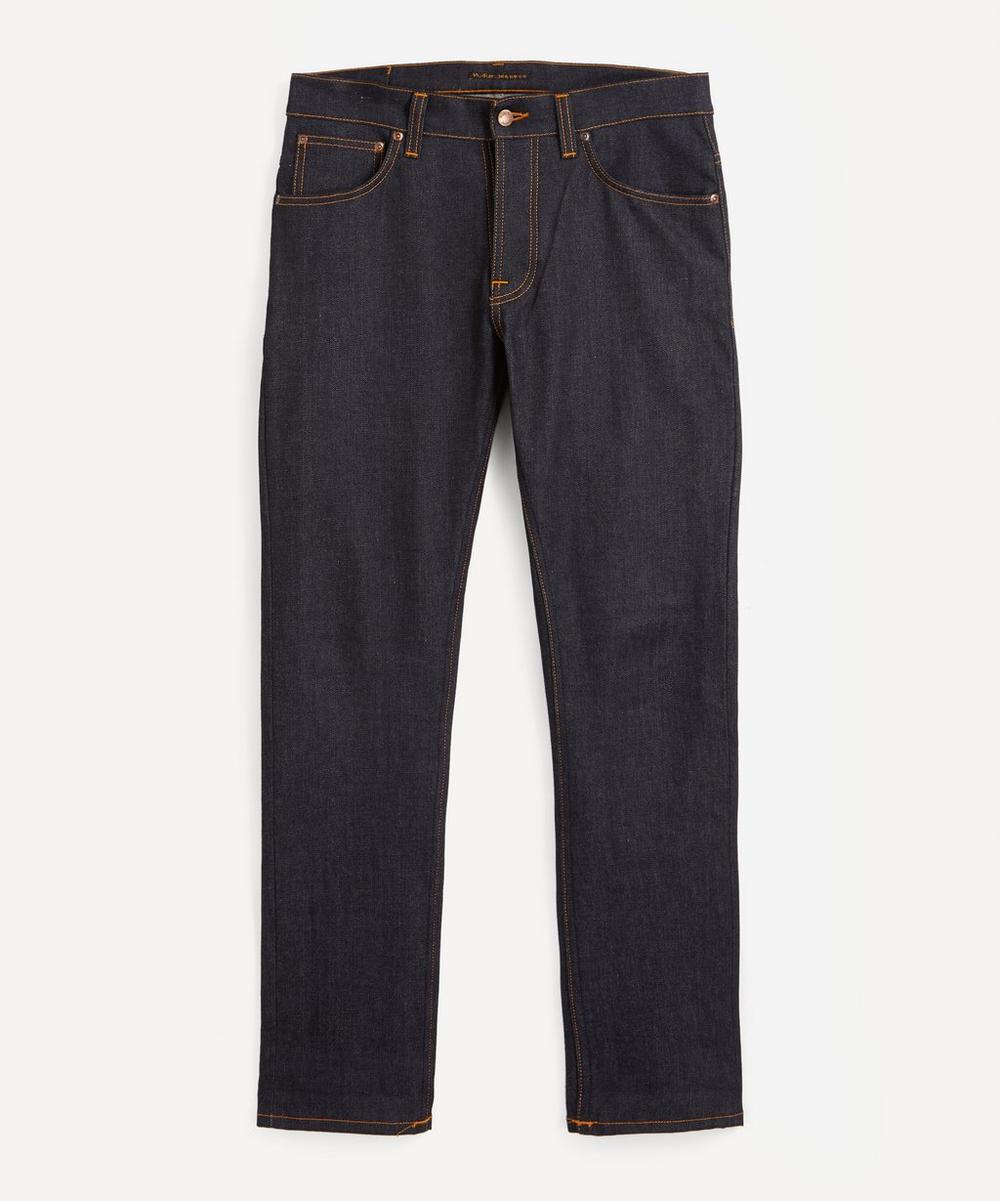 Nudie Jeans - Grim Tim Dry True Navy Straight-Leg Jeans
