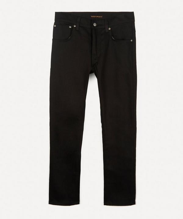 Nudie Jeans - Grim Tim Dry Ever Black Straight-Leg Jeans