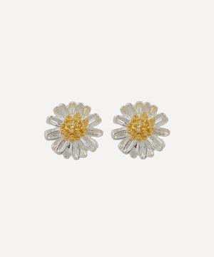 Silver-Plated Mini Wildflower Stud Earrings