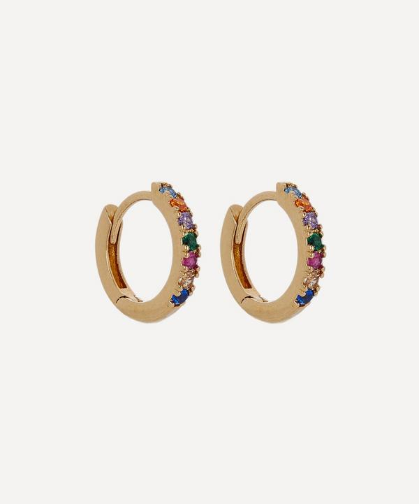 Estella Bartlett - Gold-Plated Pavé Set Cubic Zirconia Huggie Hoop Earrings
