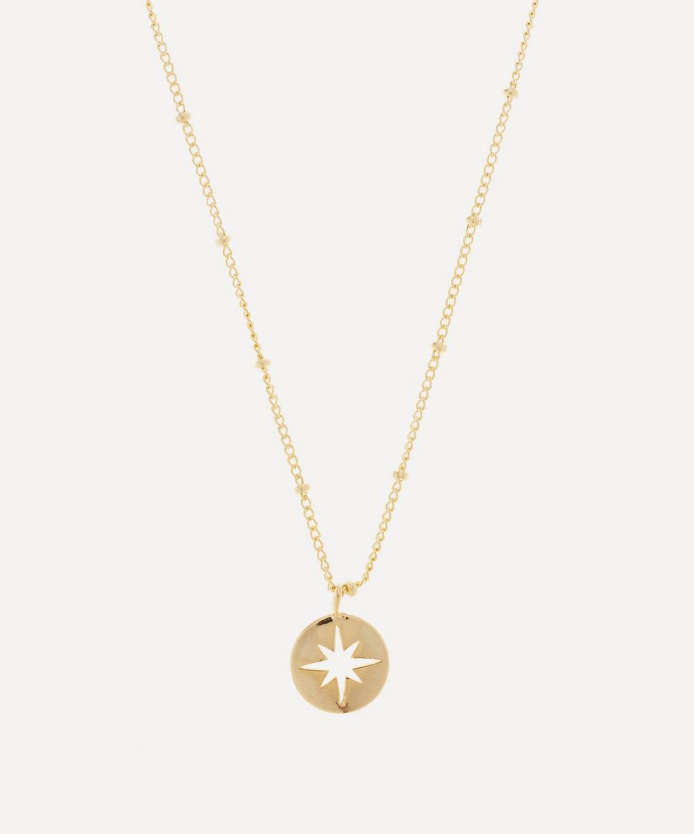 Estella Bartlett Gold-plated Starburst Disc Pendant Necklace