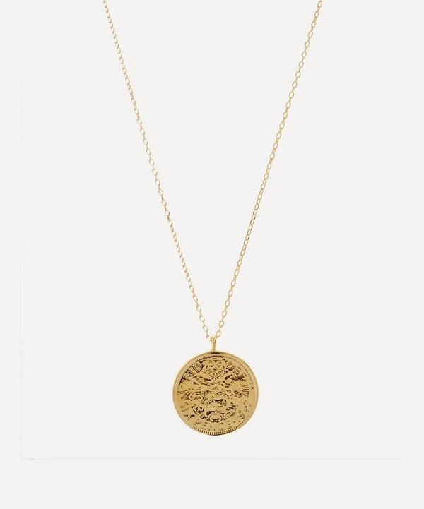 Estella Bartlett - Gold-Plated Lucky Six Pence Pendant Necklace