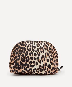 Leopard Print Tech Fabric Toiletry Bag