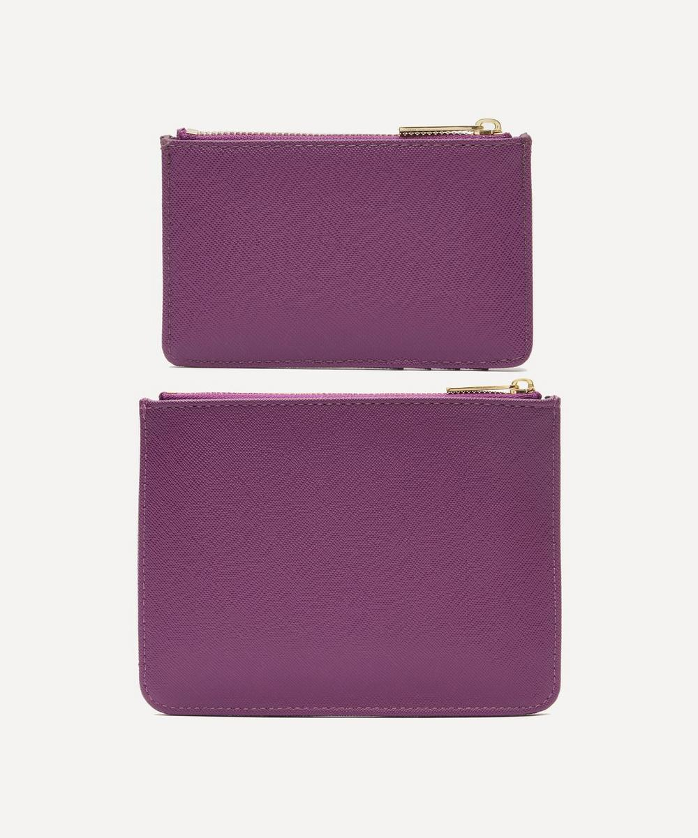 Faux Leather Medium Pouch and Card Purse Set