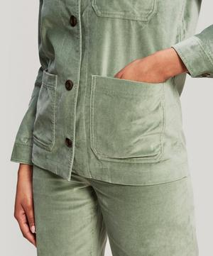 Judy Button-Up Velour Jacket