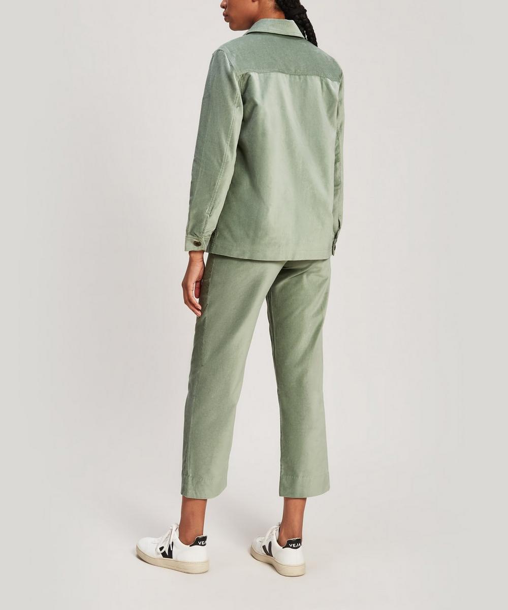 Althea High-Waisted Velvet Trousers