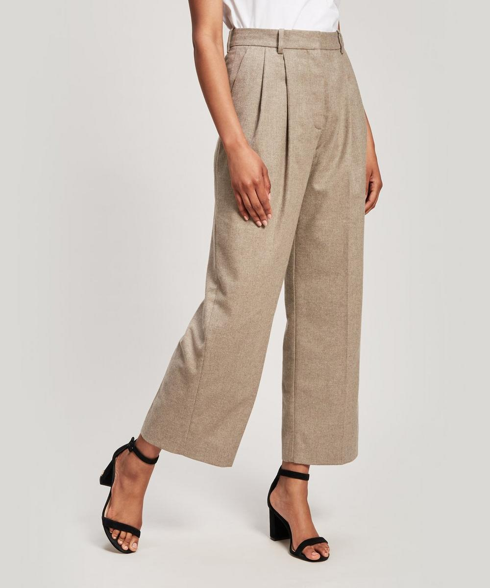 Sunna Pleated Recycled Wool-Blend Trousers