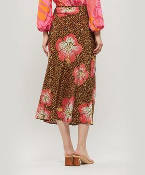 Kelly Floral Giraffe Print Midi-Skirt