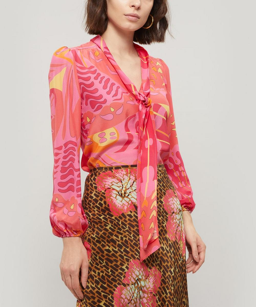 Moss Psychedelic Butterfly Print Blouse