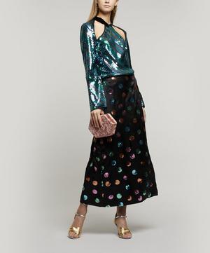 Hazel Striped Sequin Top