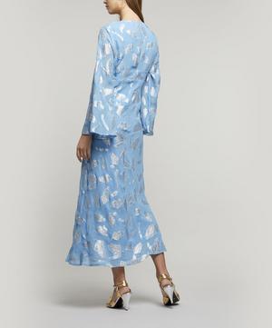Indra Metallic Leaf Print Dress