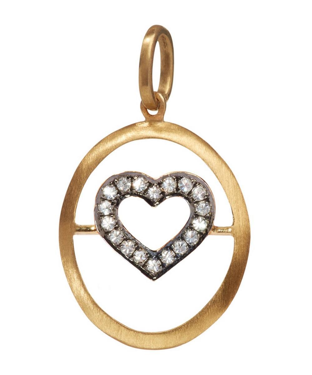 18ct Gold Diamond Heart Pendant