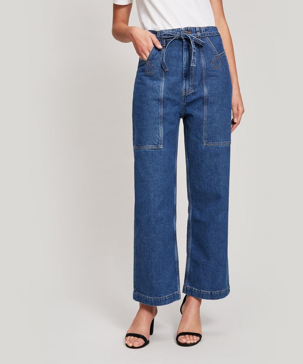 Nanushka Jeans GEMINI BELTED WIDE-LEG JEANS