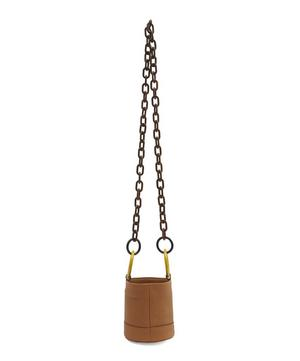Bonsai 15 Small Leather Link Strap Bucket Bag