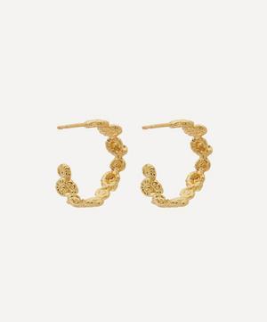 Gold-Plated Ammonite Wreath Hoop Earrings