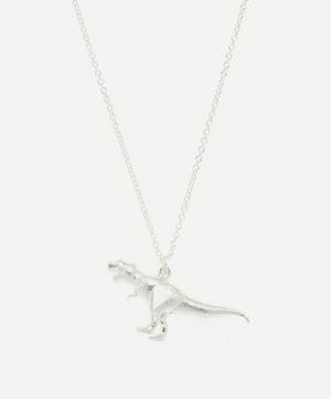 Silver Tyrannosaurus Rex Pendant Necklace