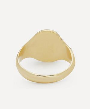 Gold-Plated Dragonfly Fossil Signet Ring