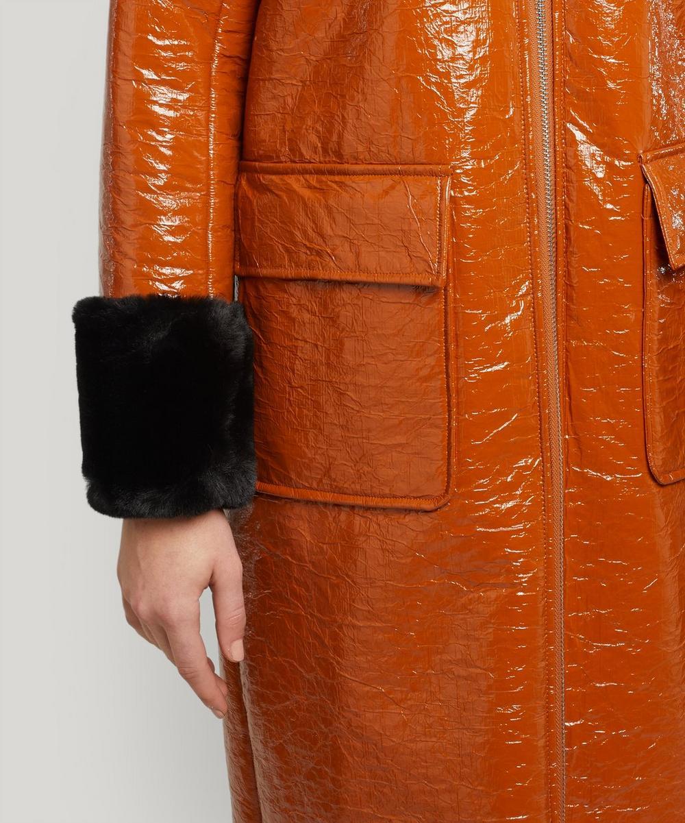 Kristen Faux Fur Trimmed PVC Coat
