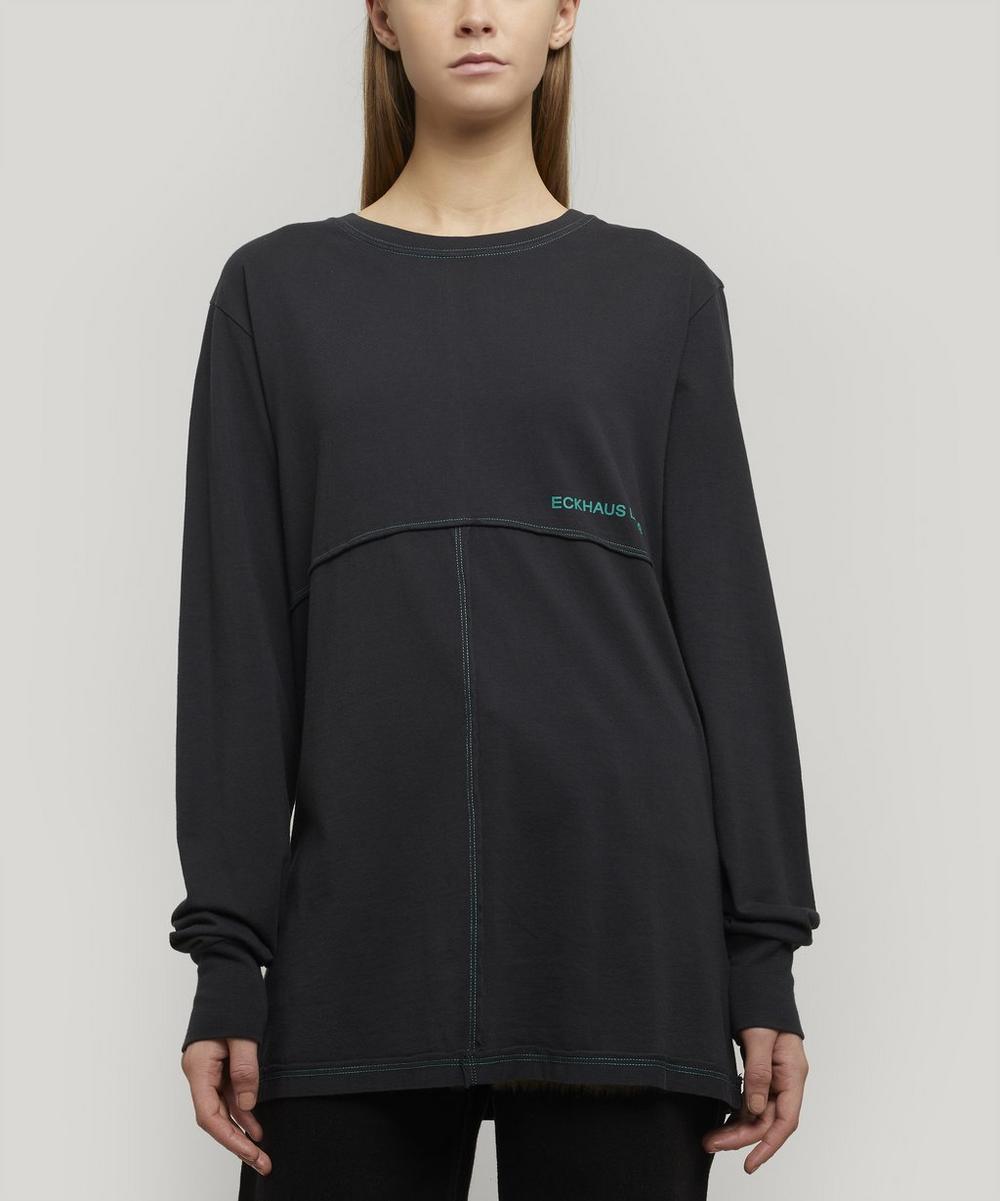 Eckhaus Latta T-shirts LAPPED JERSEY LONG-SLEEVE LOGO T-SHIRT