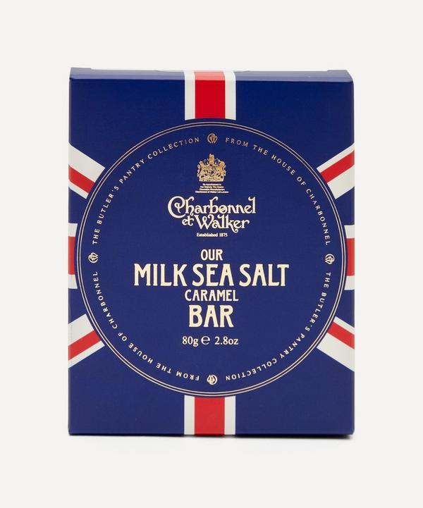 Charbonnel et Walker - Butler's Pantry Union Jack Sea Salt Milk Chocolate Bar 80g