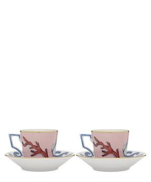 Coffee Cups and Saucers Set of Two