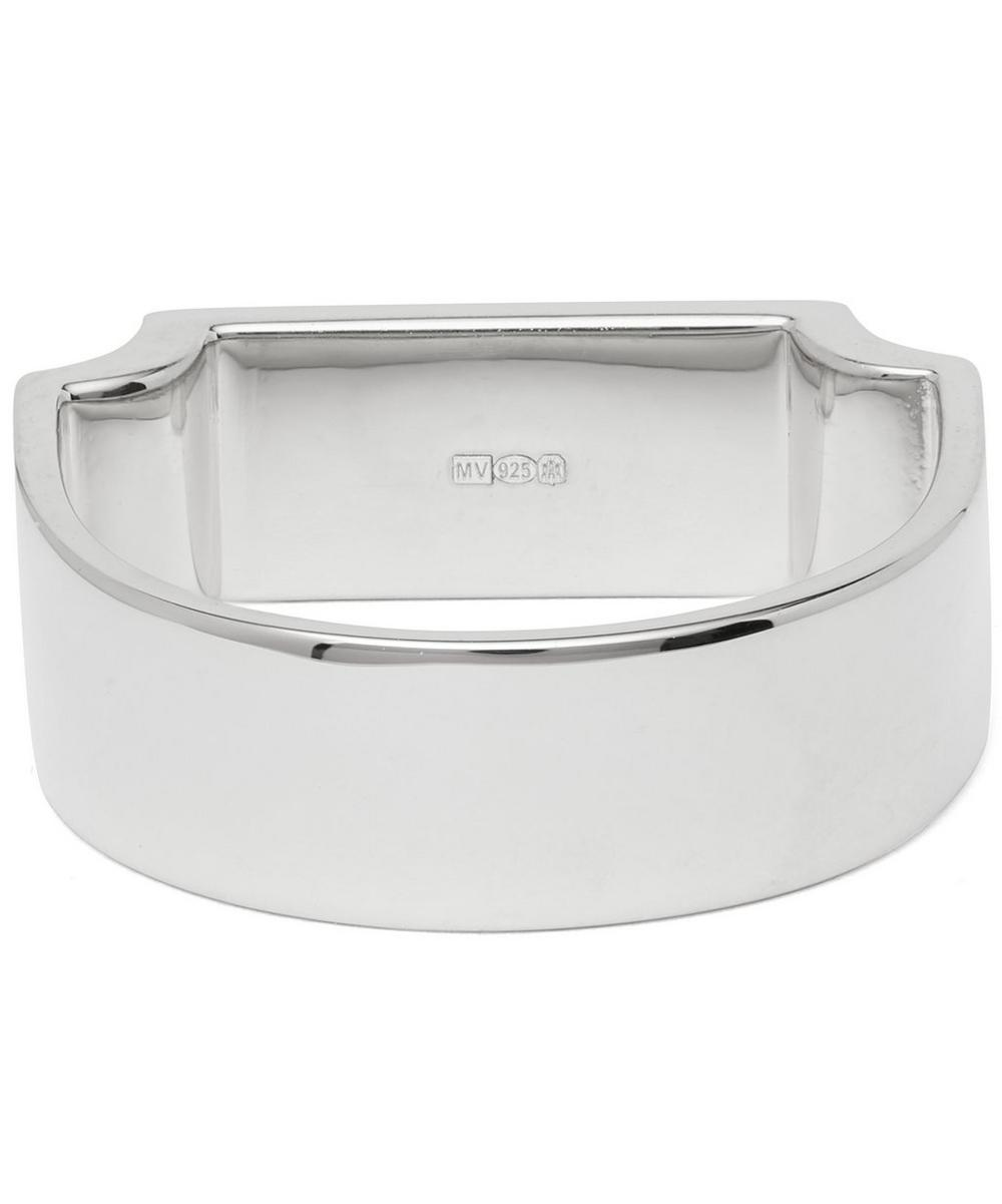 Silver Signature Wide Ring