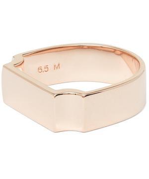 Rose Gold Vermeil Signature Wide Ring