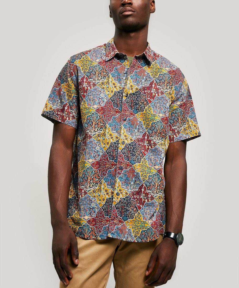 Halton Linen-Blend Short Sleeved Lasenby Shirt