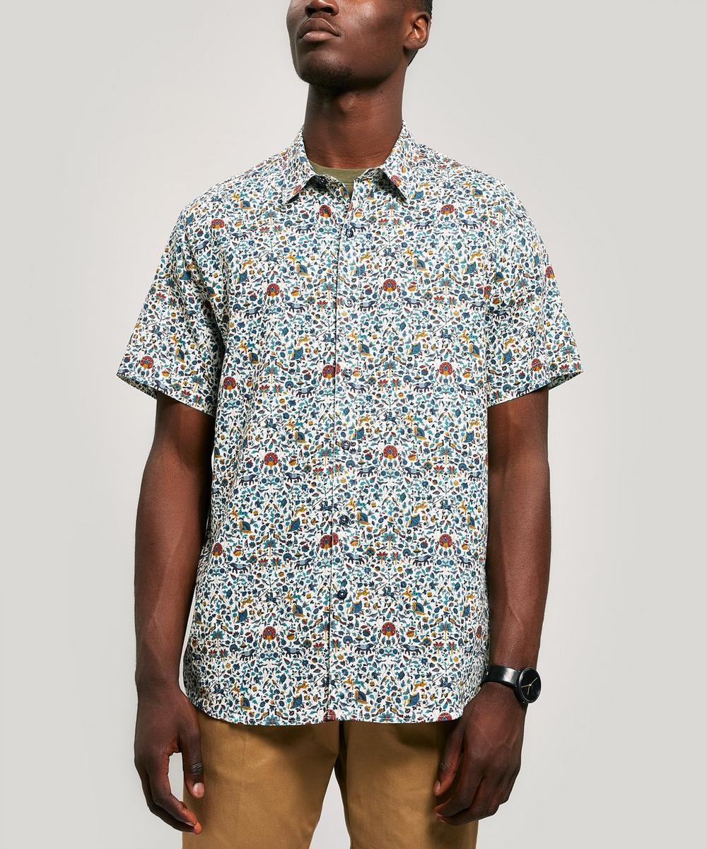 Imran Linen-Blend Short Sleeved Lasenby Shirt