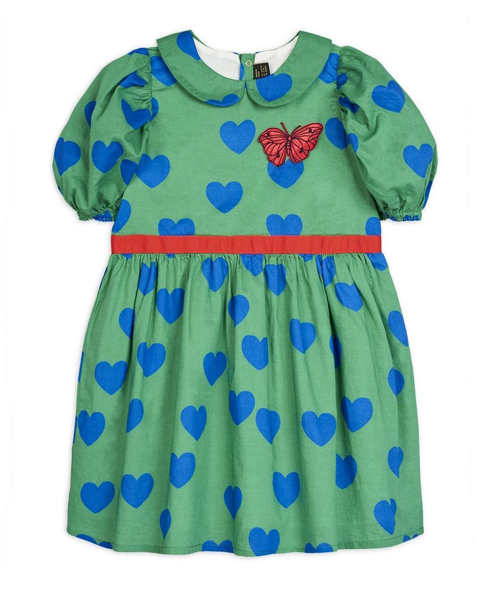 Hearts Puff-Sleeve Dress 2-8 Years