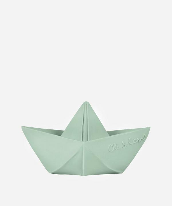 Oli&Carol - Origami Boat Natural Rubber Teether in Mint