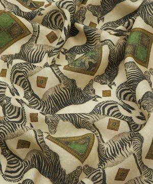 Zebra Large Linen Tablecloth