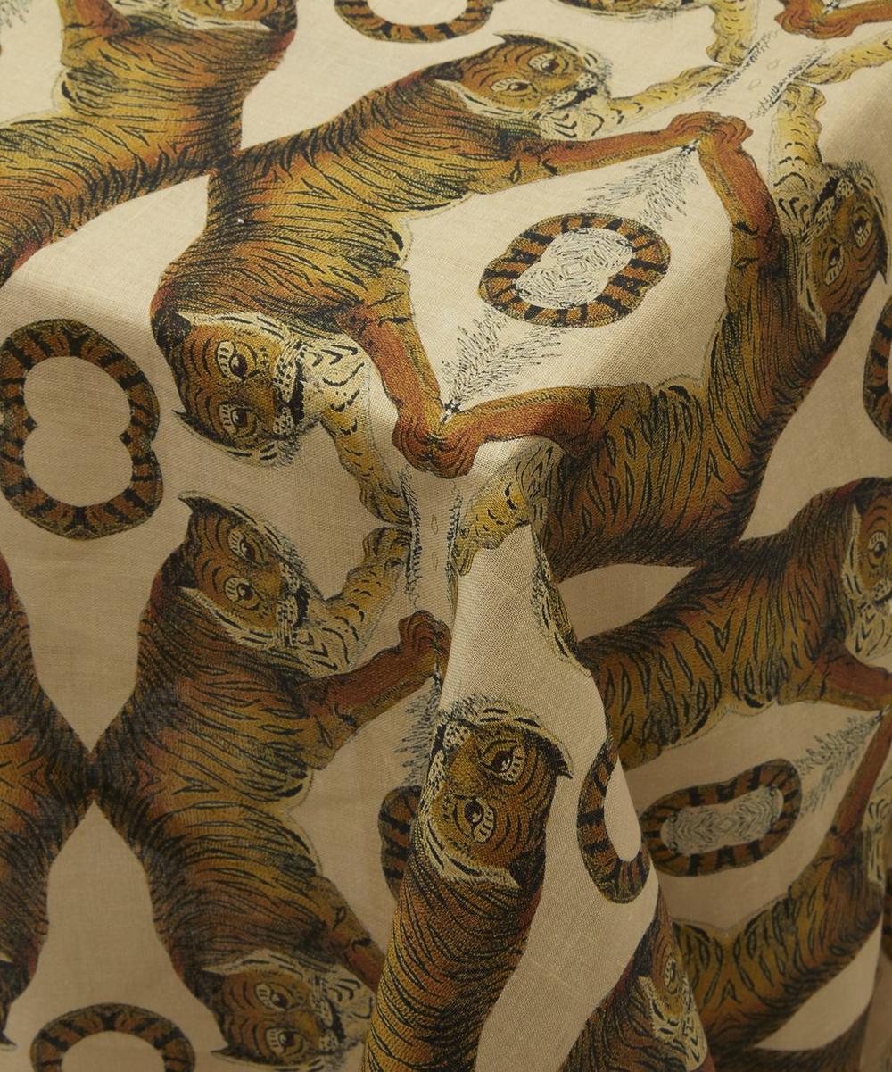 Tiger Large Linen Tablecloth