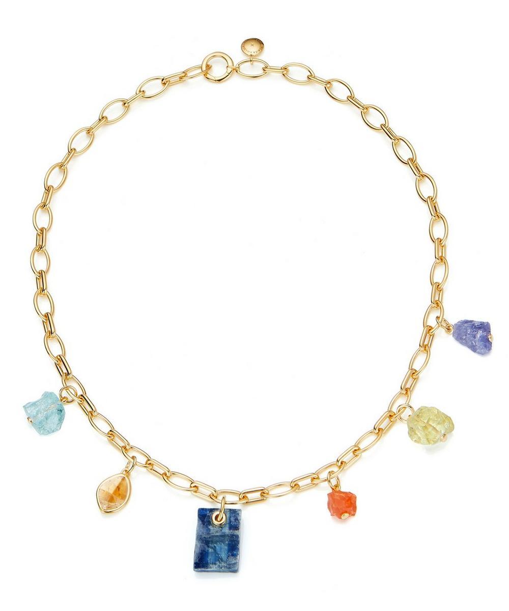 x Caroline Issa Gold Vermeil Multi-Stone Necklace