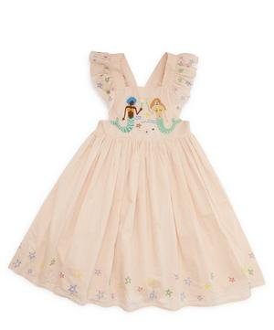 Mermaids Embroidery Cotton Dress 2-8 Years