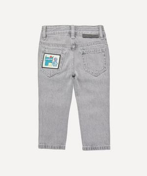 Denim Trousers with Badges 2-8 Years