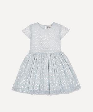 Short-Sleeved Tulle Dress 2-8 Years