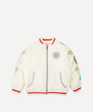 Embroidered Satin Bomber Jacket 2-8 Years