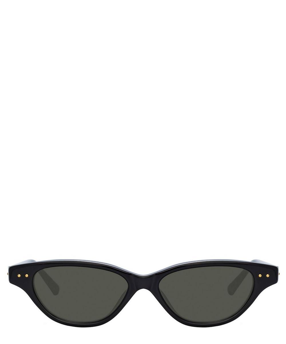 Linda Farrow Alessandra Cat-Eye Sunglasses In Black
