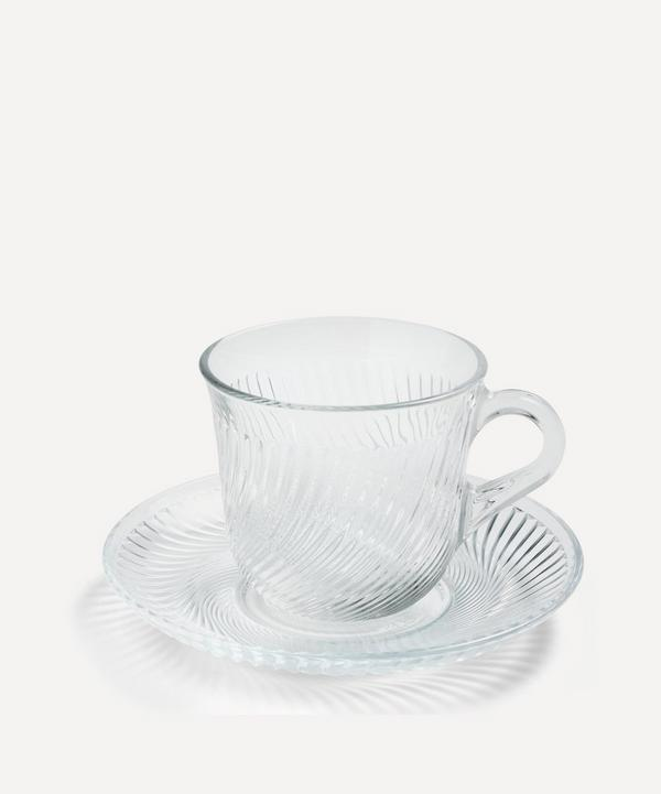 Hay - Pirouette Glass Cup and Saucer