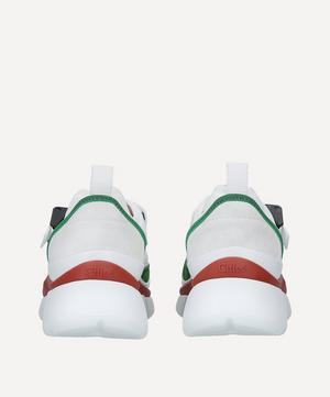 Sonnie Raised-Sole Leather Sneakers