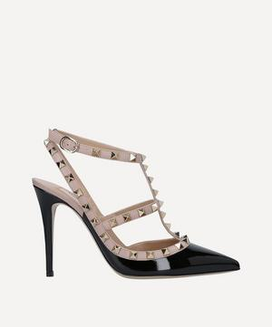 Rockstud 100 Patent-Leather Courts