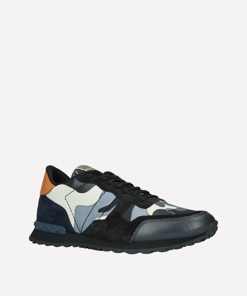 Rockrunner Leather Camouflage Sneakers