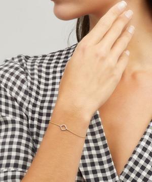 Gold Vermeil Riva Mini Diamond Kite Bracelet